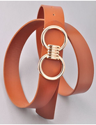 Double O Gold Detail Belt