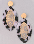 Football Shape Earrings with Gold Detailing