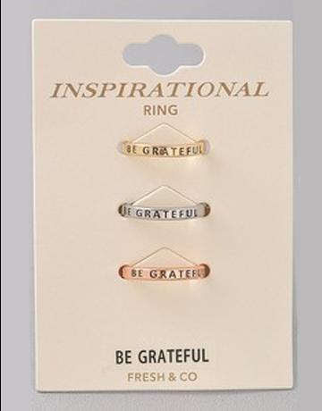 Be Grateful Ring Set