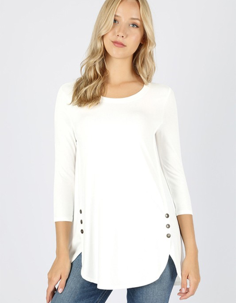 3/4 Sleeve With Side Button