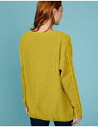 Chenille Cable Knit Sweater