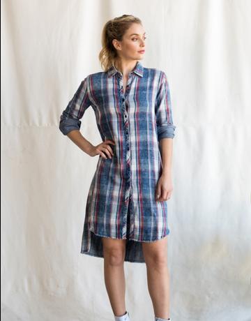 High Low Plaid Dress