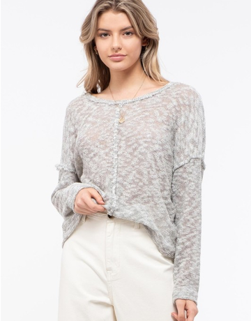 Back Button-Down Knit Top