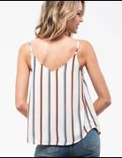 Striped Lace Trim Cami