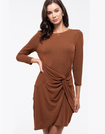Front Twist Knit Dress