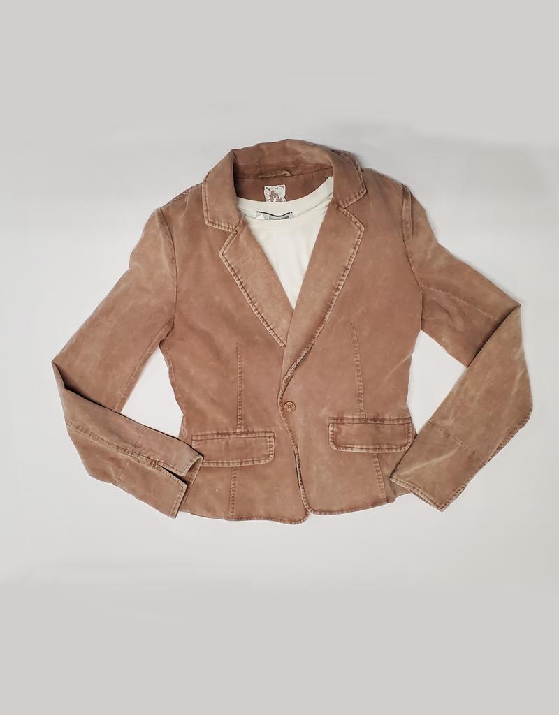 One Button Corduroy Jacket