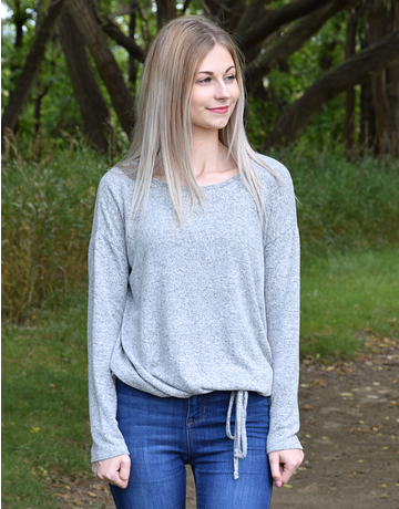 Cozy Drawstring Hem Top