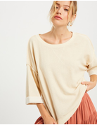 Inside Out Round Neck Top