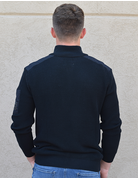 Mock Neck Polo Sweater With Pocket