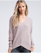 Long Dolman Sleeve Solid Knit Top