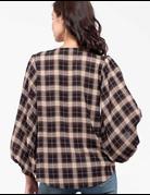 Plaid V-Neck Shirt