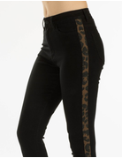 High Rise Leopard Striped Jean