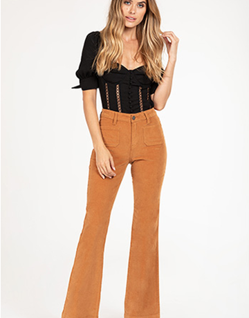 High-Rise Corduroy Flare Pant