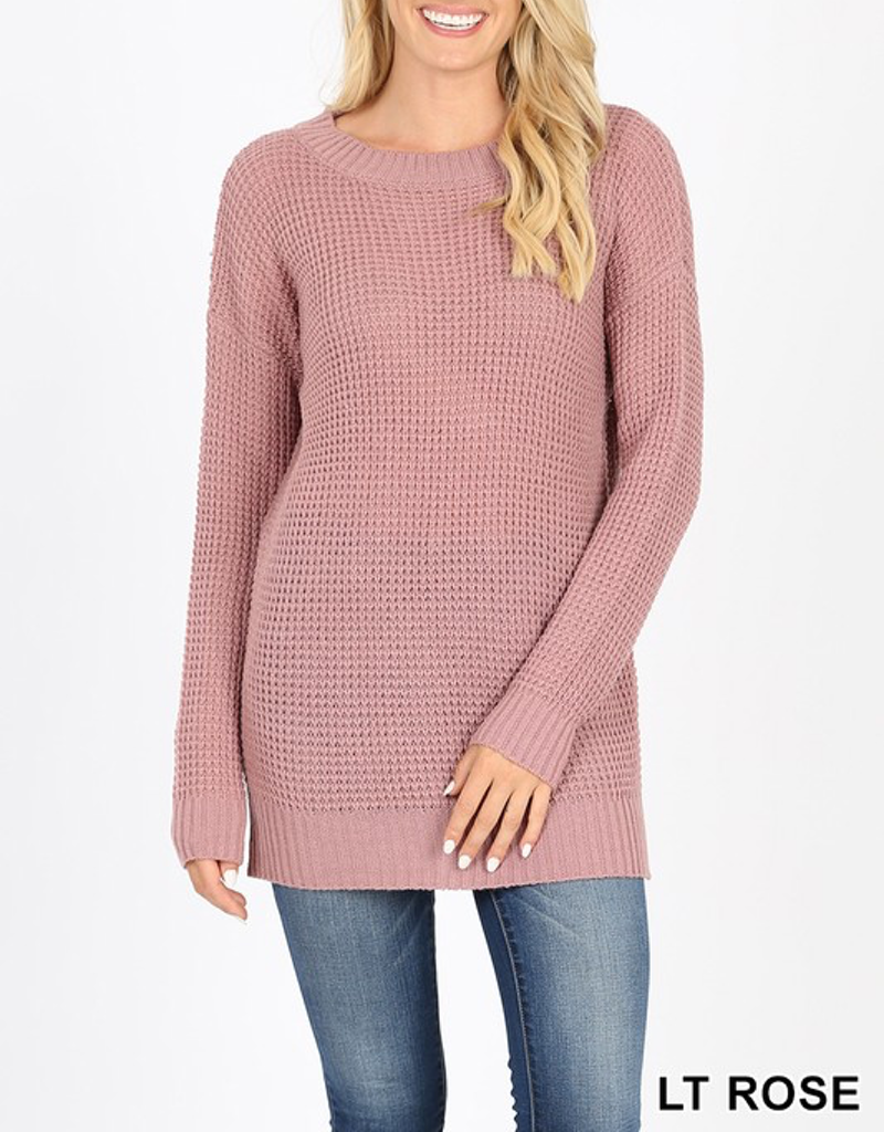 Long Waffle Sweater - 13 Colors