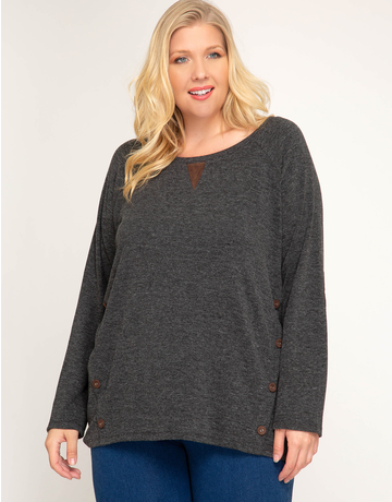 Terry Tunic With Suede Detail