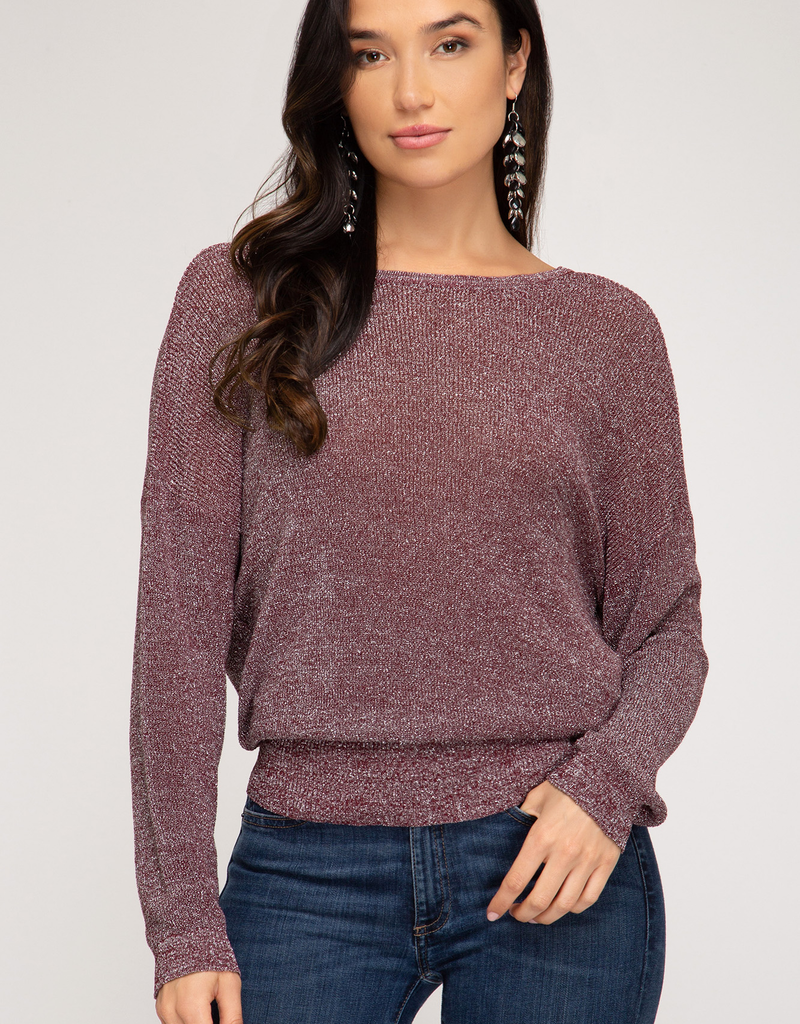 Lurex Sweater With Open Back