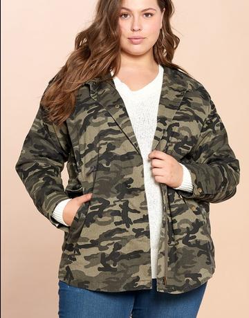 Washed Camo Utilitarian Jacket