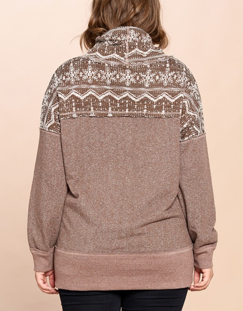 Aztec Printed French Terry Sweater