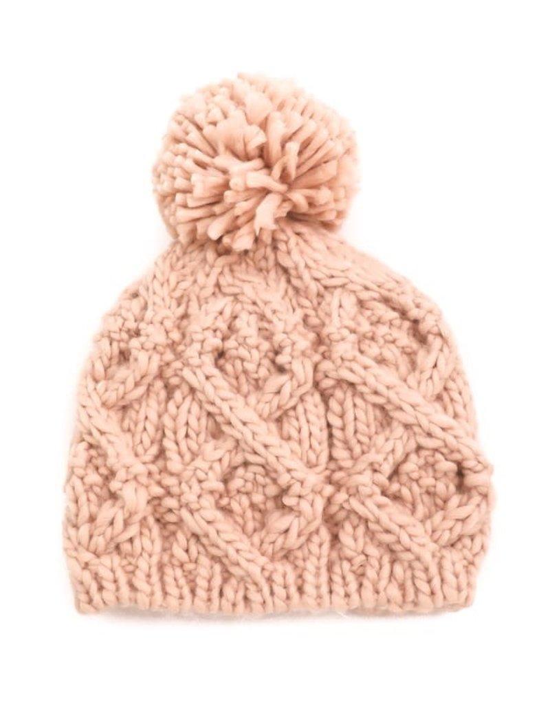 Crochet Knit Pom Beanie