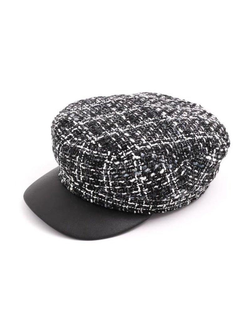 Cotton Tweed Cabbie Hat