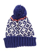 Rib Knit Winter Pom Beanie