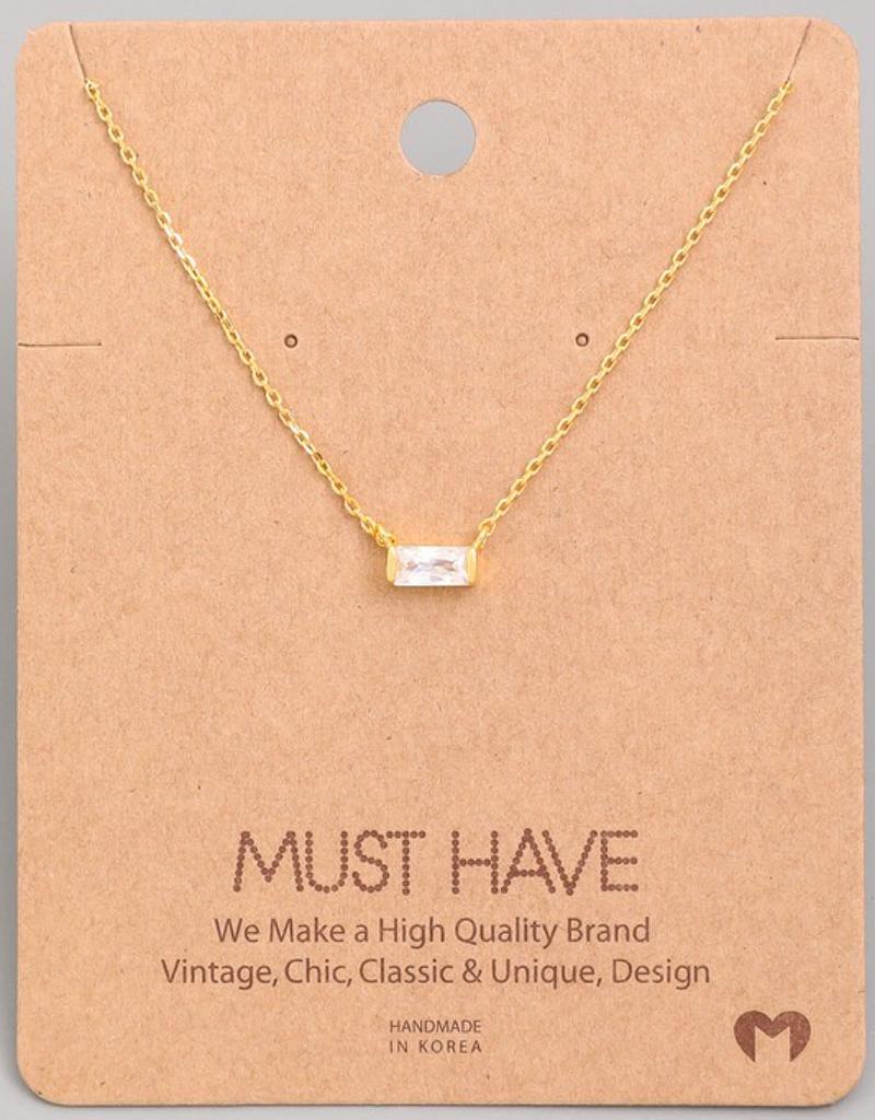 Mini Stud Pendant Necklace