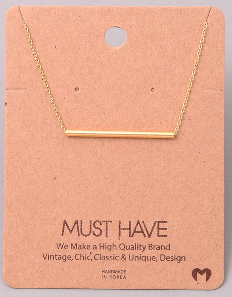 Classic Tube Bar Necklace