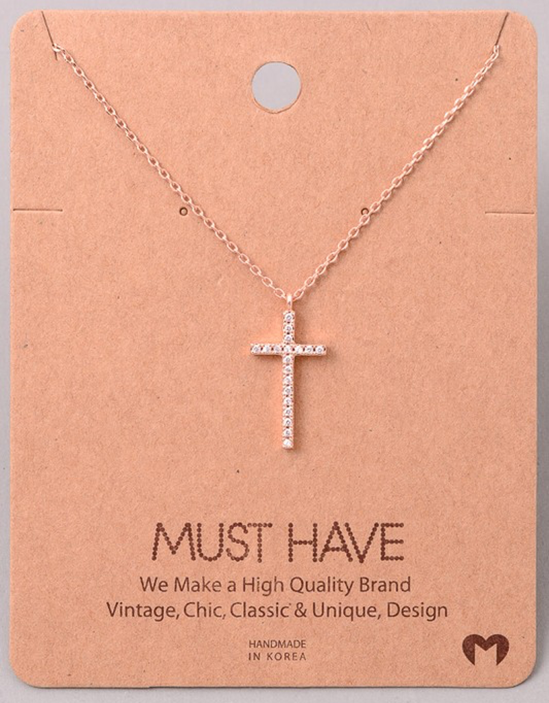 Jewel Cross Pendant Necklace