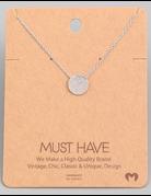 Solid Circular Pendant Necklace