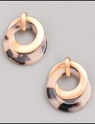Acetate Double Ring Earrings