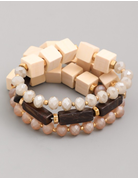 Large Block Bead Bracelet Set