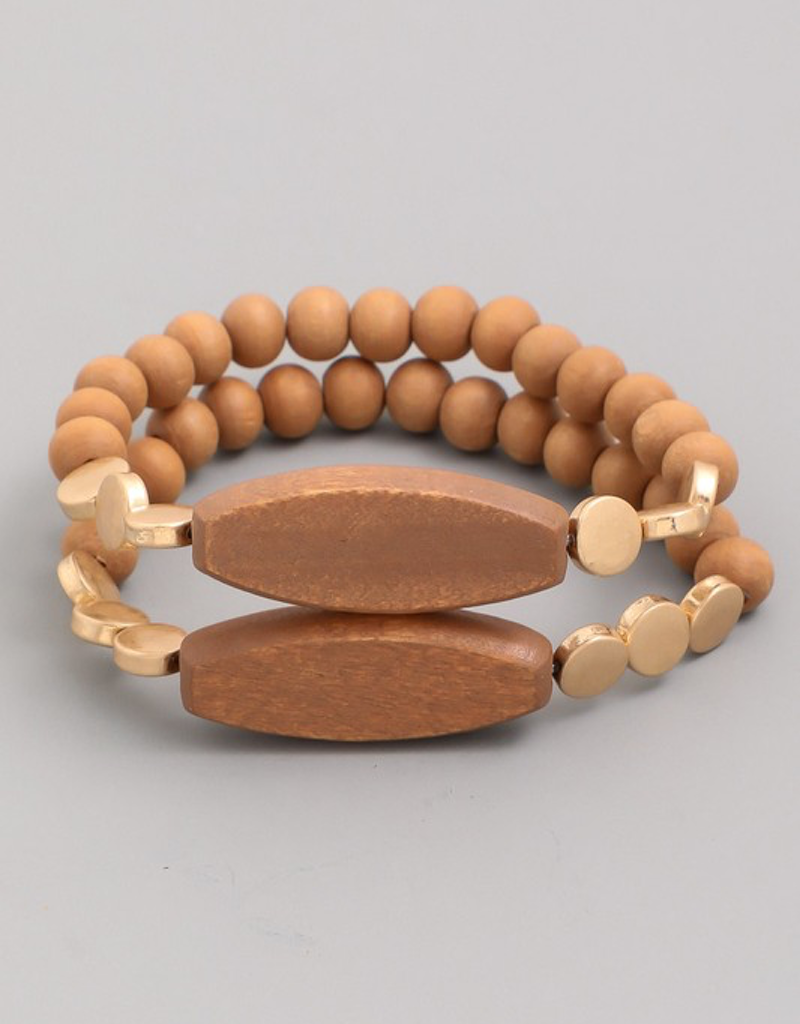 Double Stone Bead Bracelet