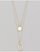 Layered Oval Pearl Necklace