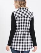 Plaid Vest W/ Waist String
