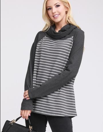 Cowl Turtle Neck Sweatshirt