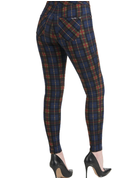 Luxe Plaid Piped Jegging