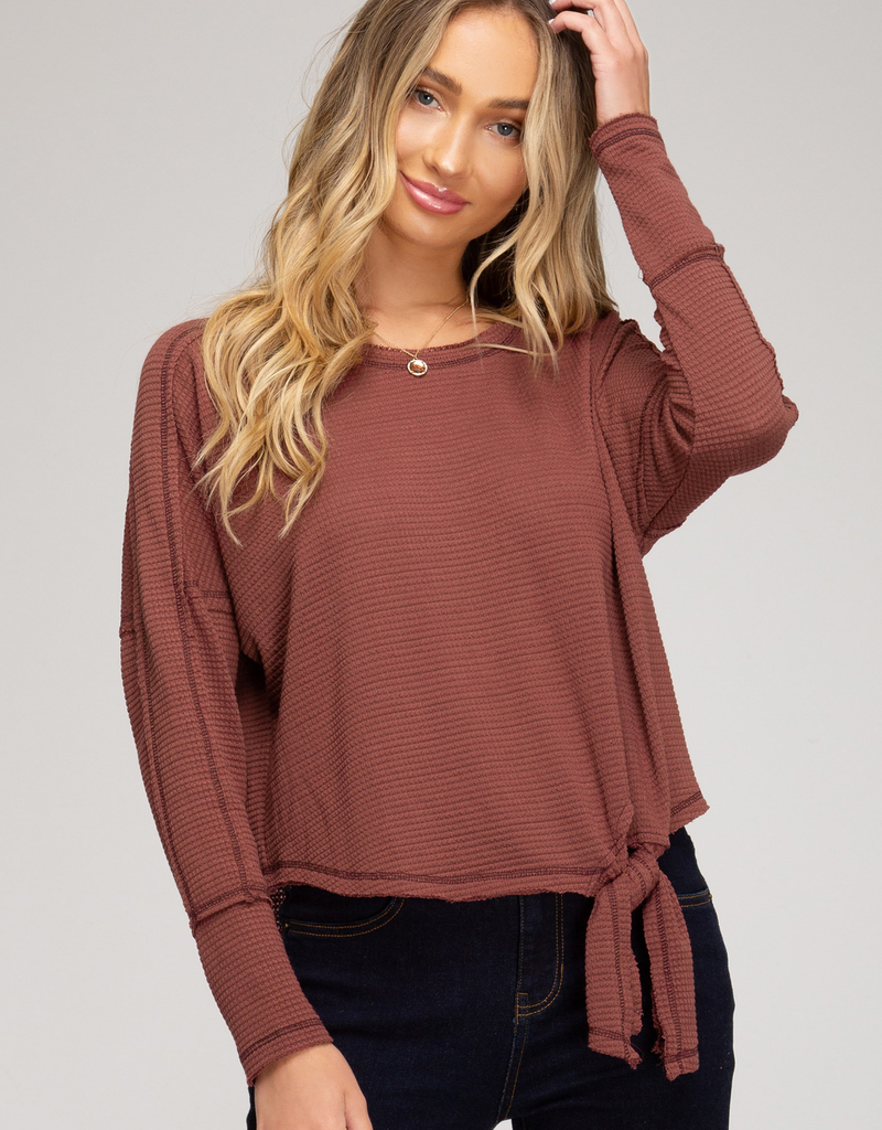 Thermal Knit Tie Top