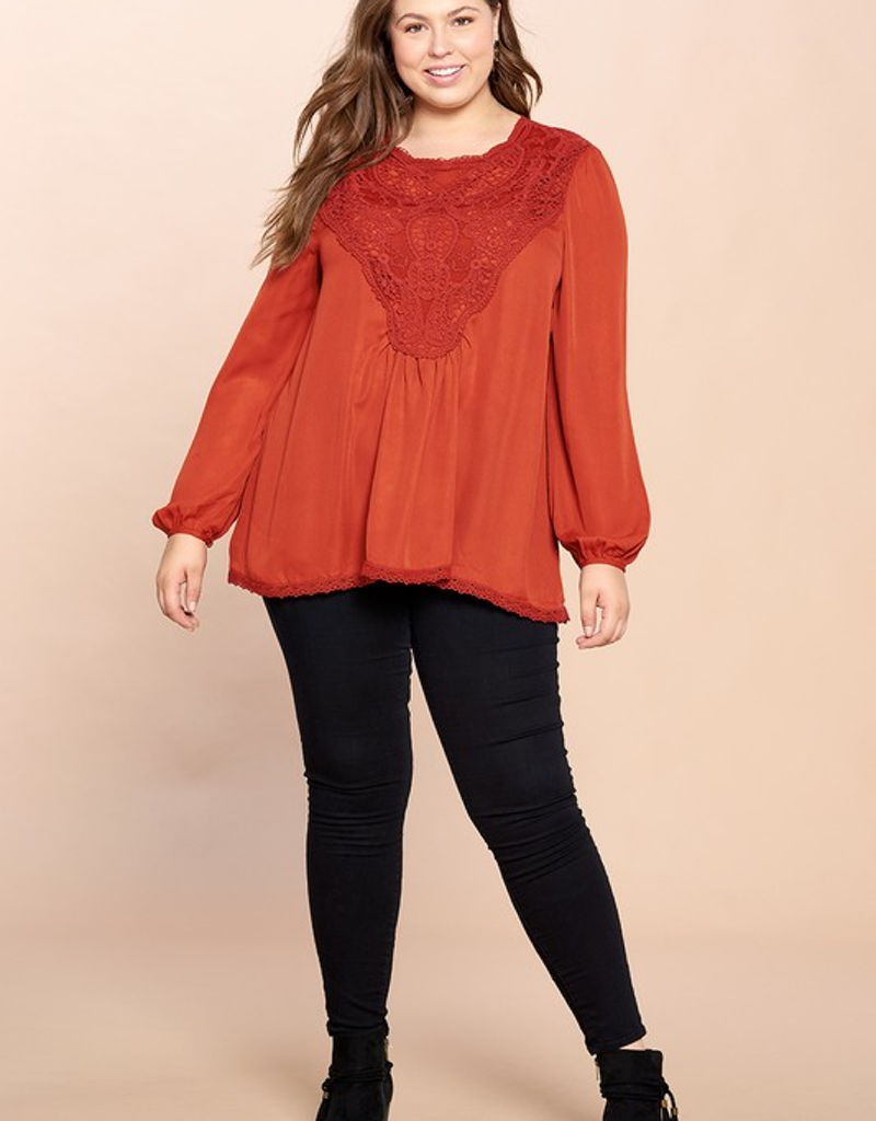 Crochet Detailed Loose-Fit Blouse