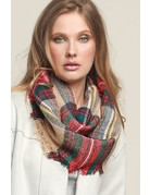 Classic Woven Plaid Infinity Scarf - 5 Colors
