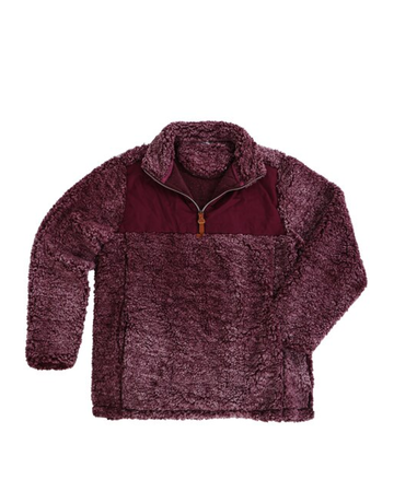 Two Tone 1/2 Zip Sherpa Pullover