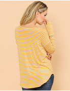 Stripe Top With Thumb Hole