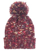 Multicolored Knit Pom Beanie