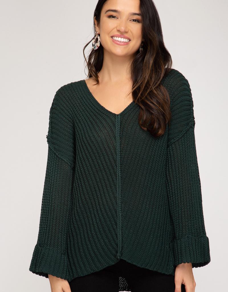 Hi Low V-Neck Sweater