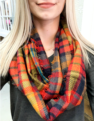 Plaid Infinity Scarf - 1 Color