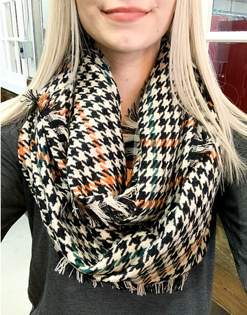 Houndstooth Infinity Scarf - 3 Colors
