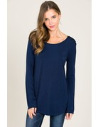 Modal Long Sleeve Round Neck Top