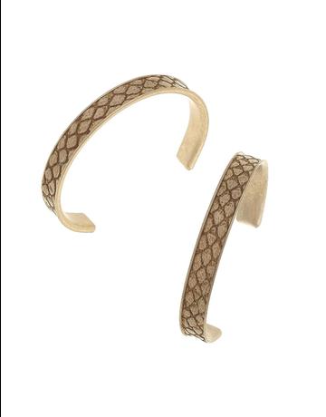 Python Embossed Hoop Earring