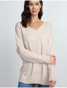 Soft Sweater With Front Seam Detail