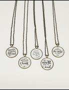 Inspirational Circle Necklace