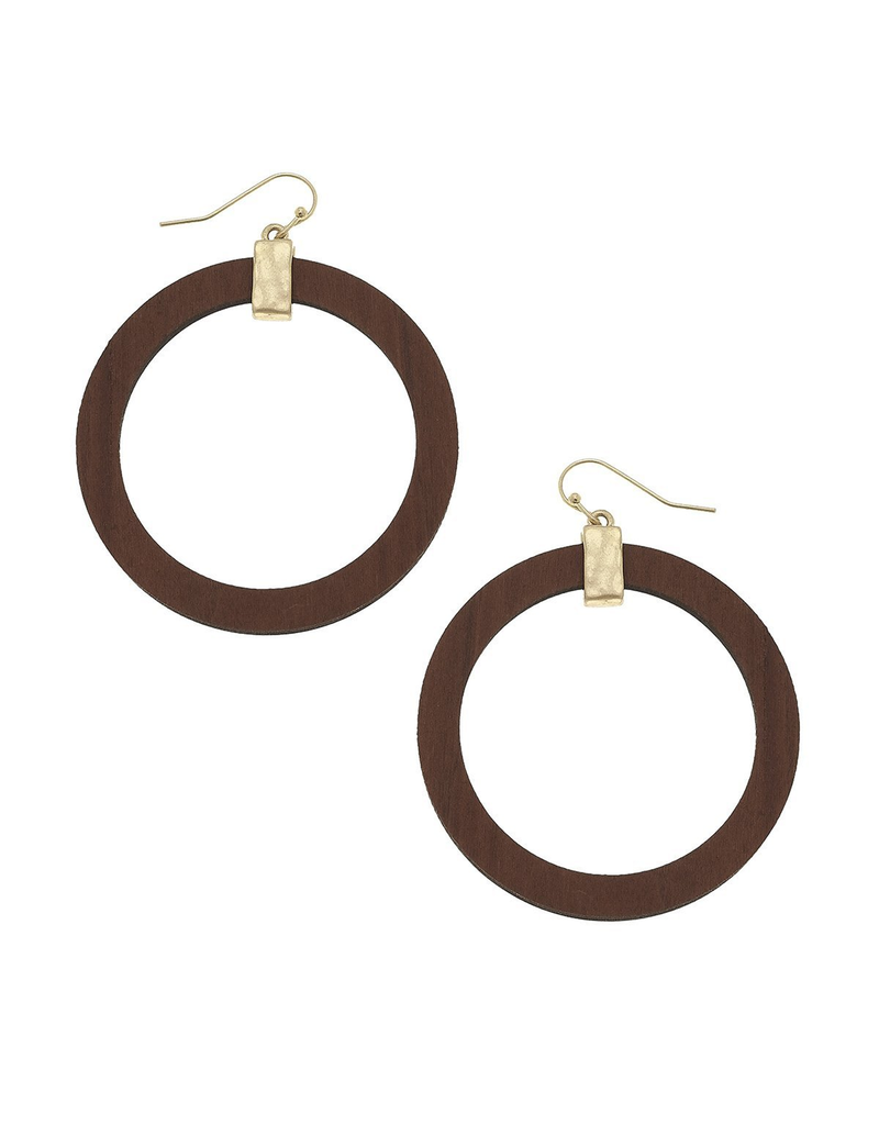 Large Wood Hoop Earrings